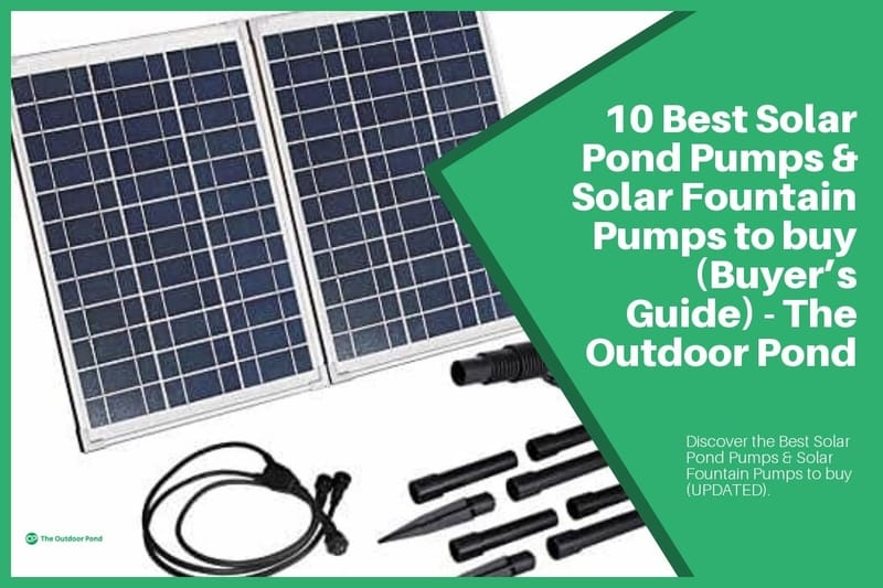 Top 10 Best Solar Pond Pumps & Solar Fountain Pumps 🥇(2019