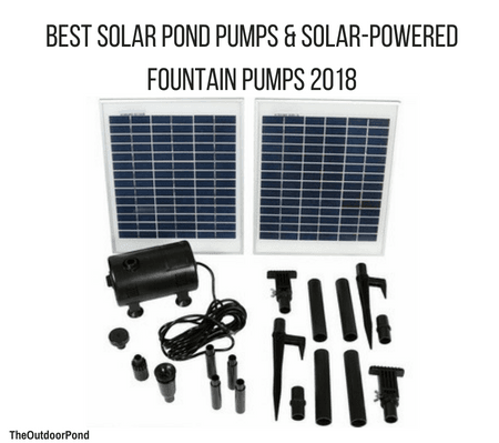 Best Solar Pond Pumps & Solar-Powered Fountain Pumps of 2018 Review
