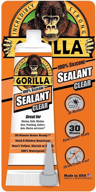 Gorilla Brand 100 Percent Silicone Sealant for pond liner